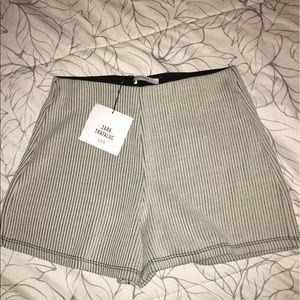 Zara NWT pinstriped shorts